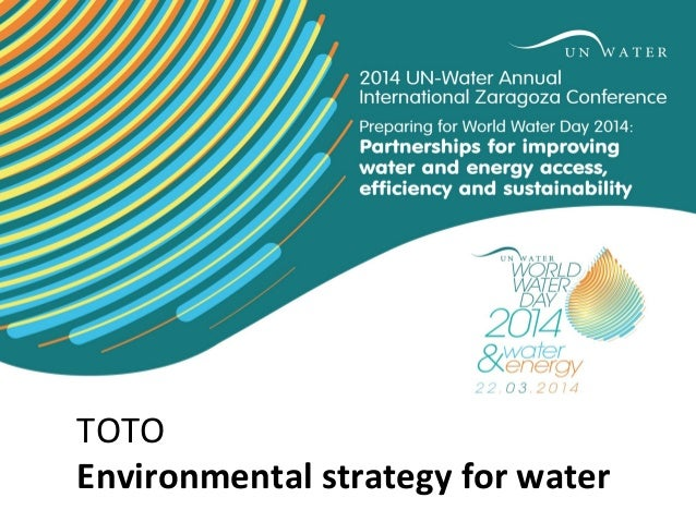 TOTO Environmental strategy for water タイトル サブタイトル
