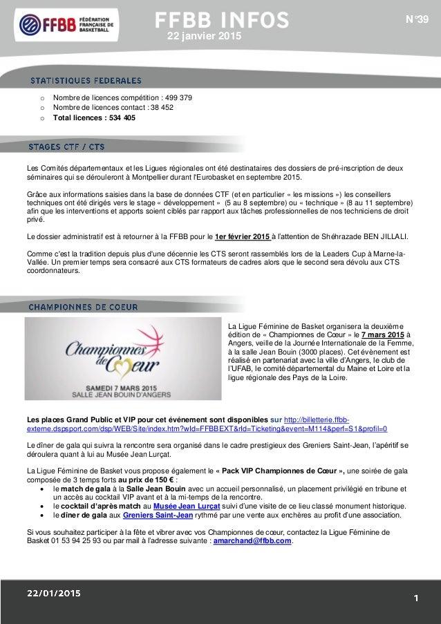 1/Résultats des Equipes de France : o Nombre de licences compétition : 499 379 o Nombre de licences contact : 38 452 o Tot...