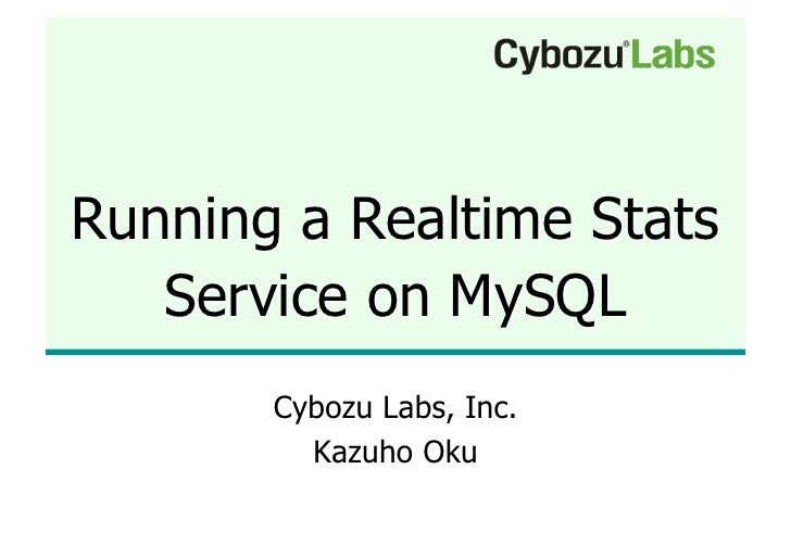 Running A Realtime Stats Service On My Sql