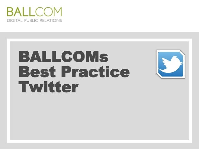 BALLCOMs Best Practice Twitter