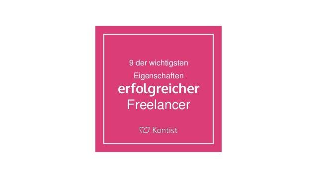 9 der wichtigsten Eigenschaften erfolgreicher Freelancer
