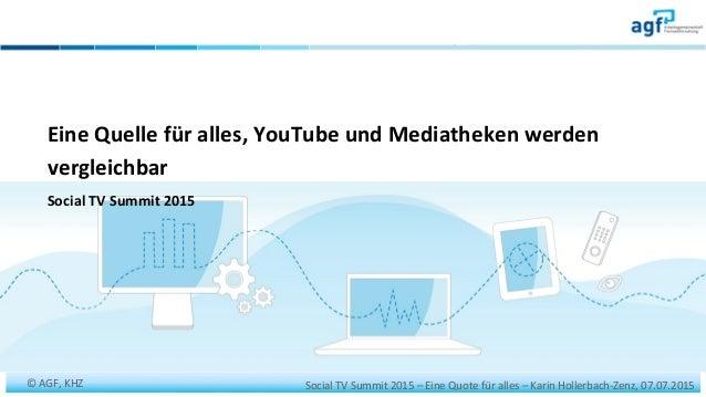 Social  TV  Summit  2015  –  Eine  Quote  für  alles  –  Karin  Hollerbach-‐Zenz,  07.07.2015  ...