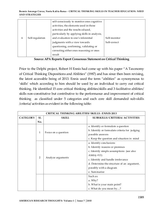 california critical thinking skills test form b Journal of medical education spring 2003 vol3, no1 investigation of reliability, validity and normality persian version of the california critical thinking skills test form b.