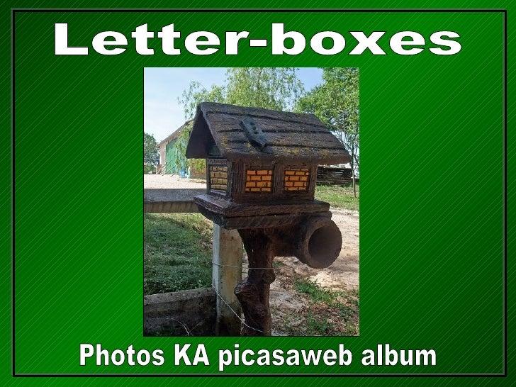 Letter-boxes Photos KA picasaweb album