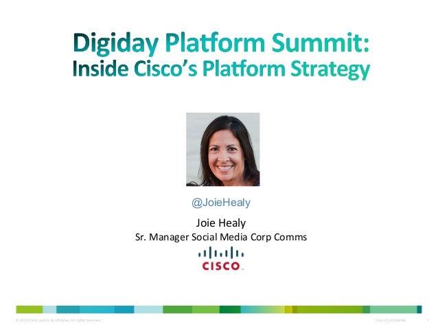 Inside Cisco's Platform Strategy - DPlat, 8/15/14