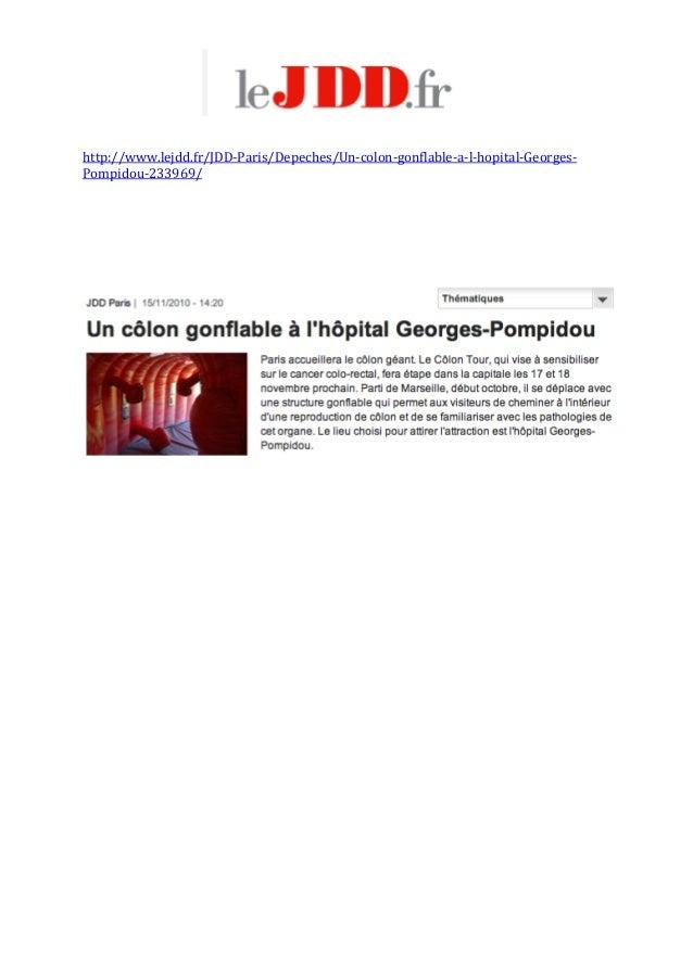 http://www.lejdd.fr/JDD‐Paris/Depeches/Un‐colon‐gonflable‐a‐l‐hopital‐Georges‐ Pompidou‐233969/