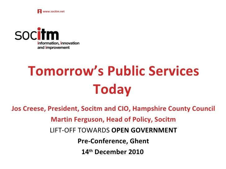 J. Creese – Tomorrows public services toda