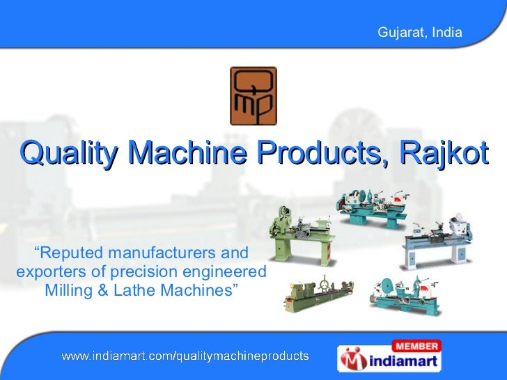 CNC milling machines By Quality Machine Products, Rajkot