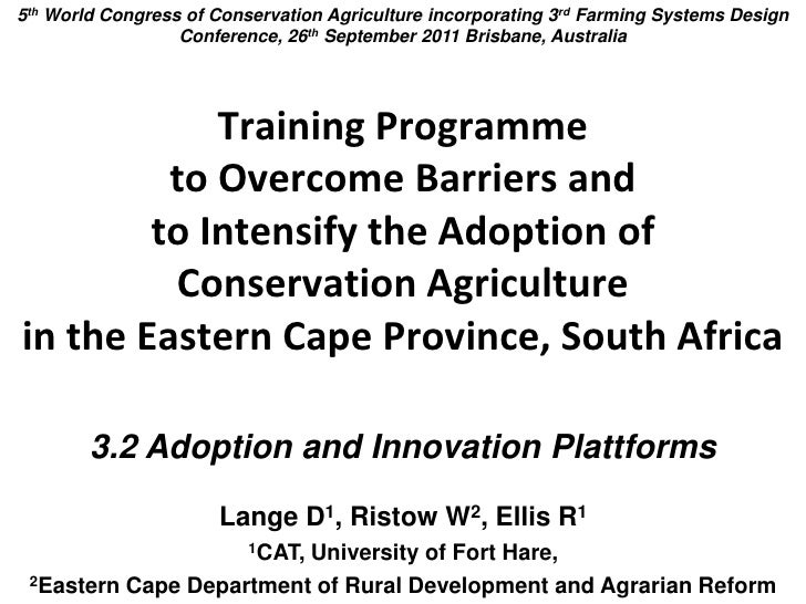 Training programme to overcome barriers and to intesify