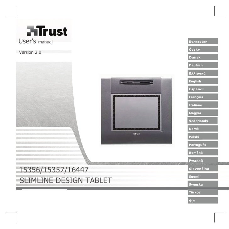 15356 Trust slimline design tablet tb-5300