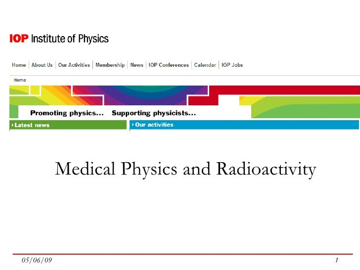 Medical Physics and Radioactivity