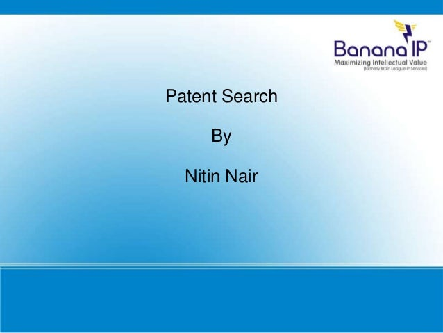 Patent Search By Nitin Nair