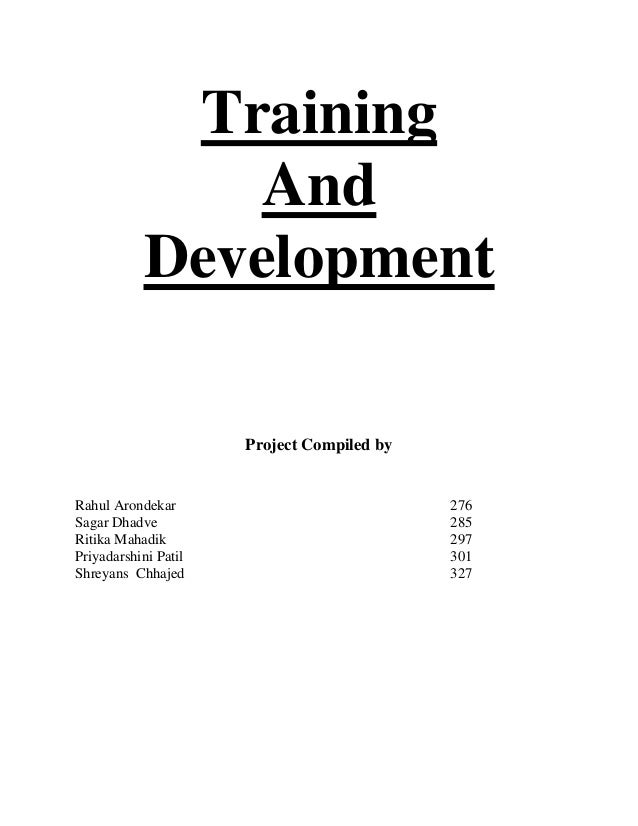 thesis on effectiveness of training and development