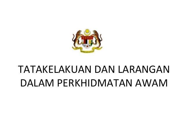 155 tatakelakuan dan larangan dalam perkhidmatan awam