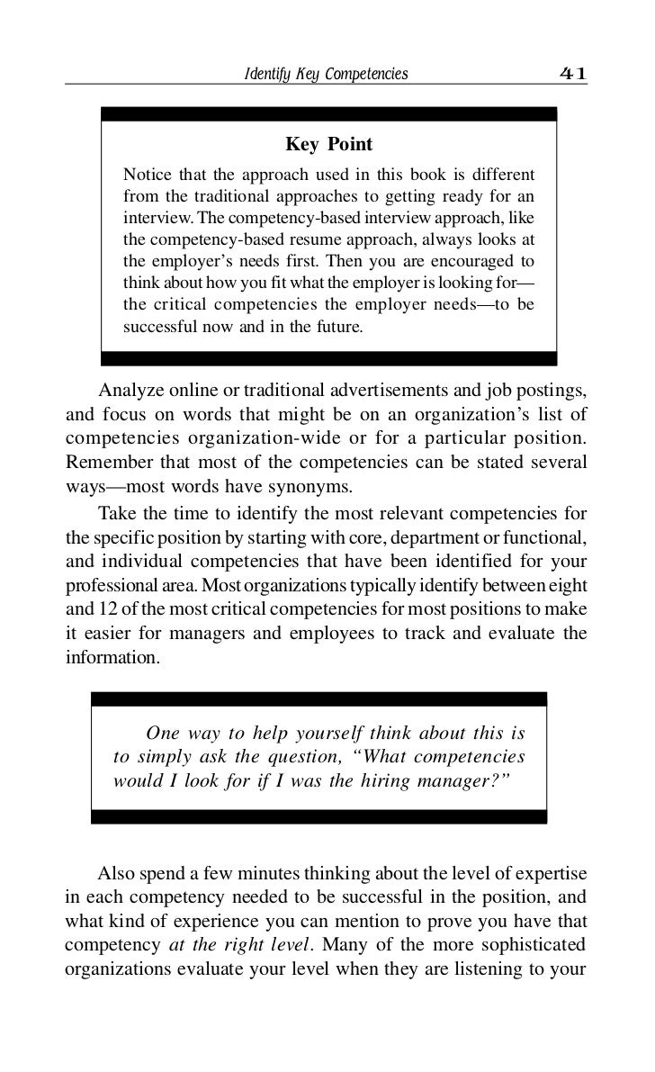 Resume competencies examples