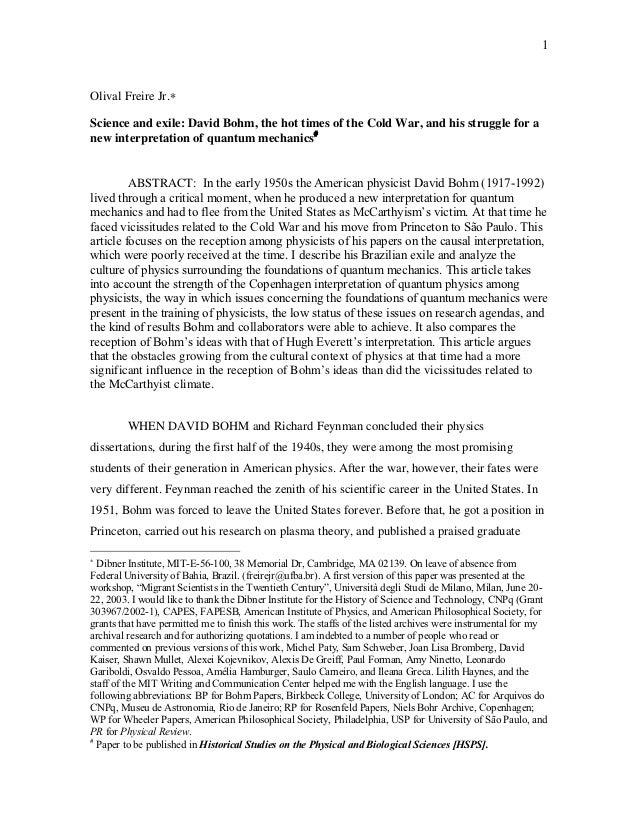 15662176 david-bohm-a-new-interpretation-of-quantum-mechanics-wwwolosciencecom