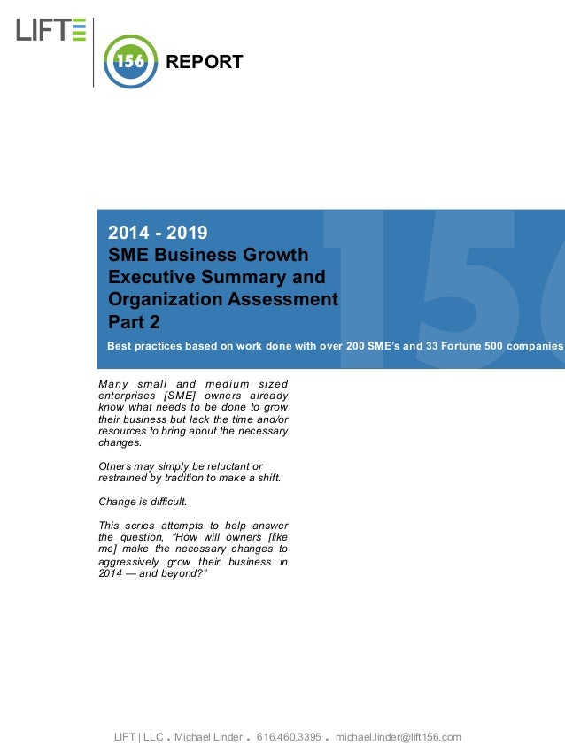 LIFT Business Growth Report 2014: Part 2