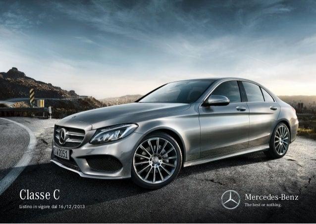 Listino Prezzi Mercedes Classe C 2014 w205