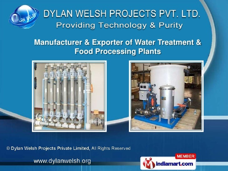 Manufacturer & Exporter of Water Treatment &          Food Processing Plants