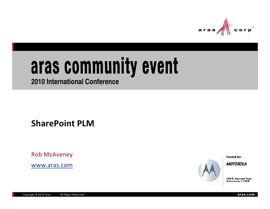 15 Ace 2010 Share Point Plm