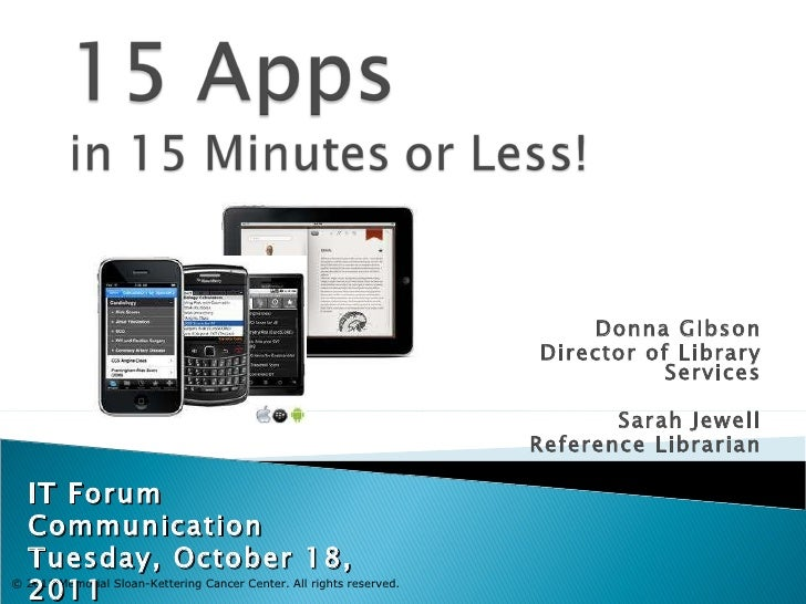IT Forum - 15 Apps 15 Minutes!