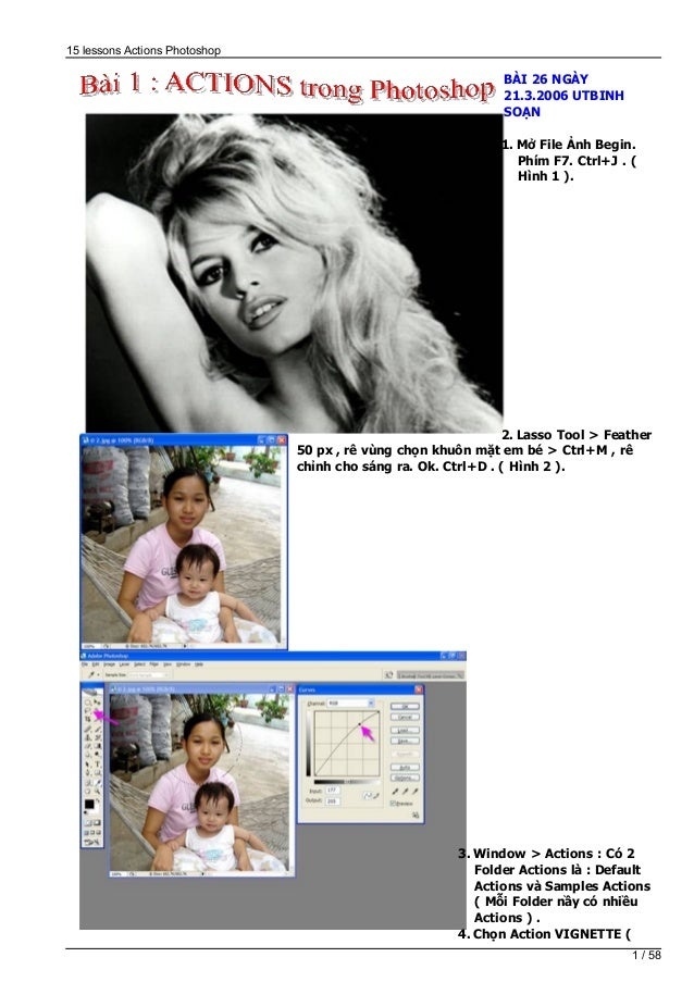 15 bai actions trong photoshop
