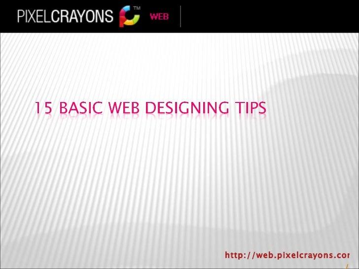 15 basic web designing tips