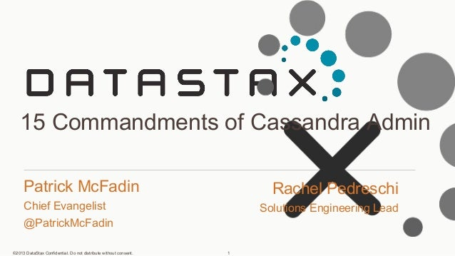 Community Webinar: 15 Commandments of Cassandra DBAs