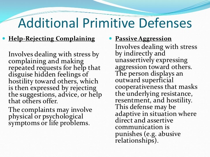 Defense mechanisms essay