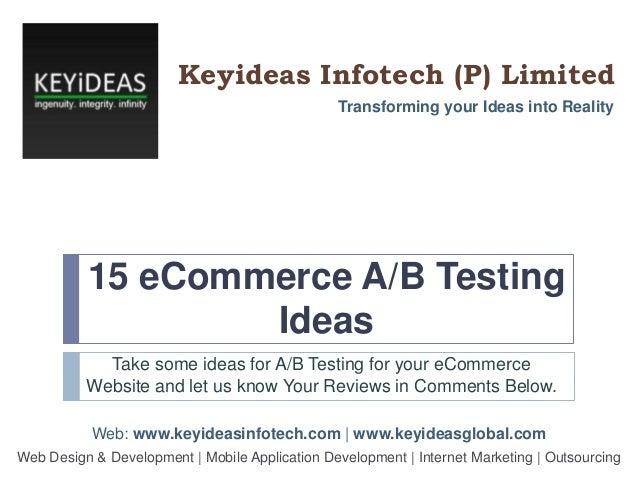15 eCommerce A-B Testing Ideas