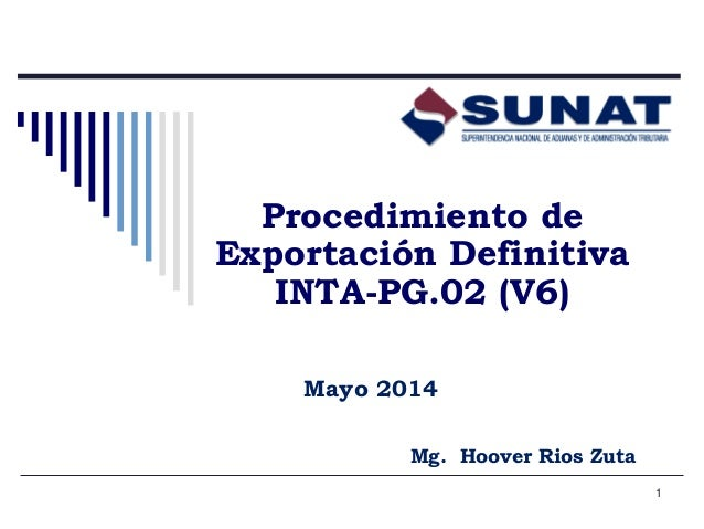 exportacion definitva  sunat