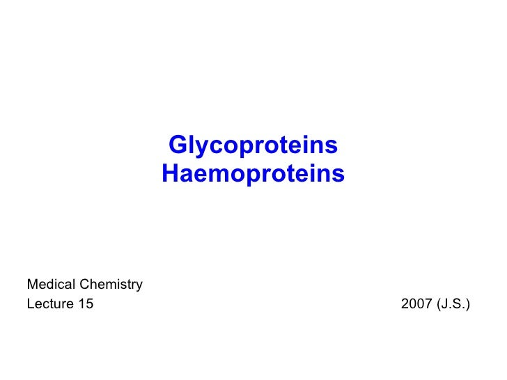 15 glycoproteins _haemoproteins