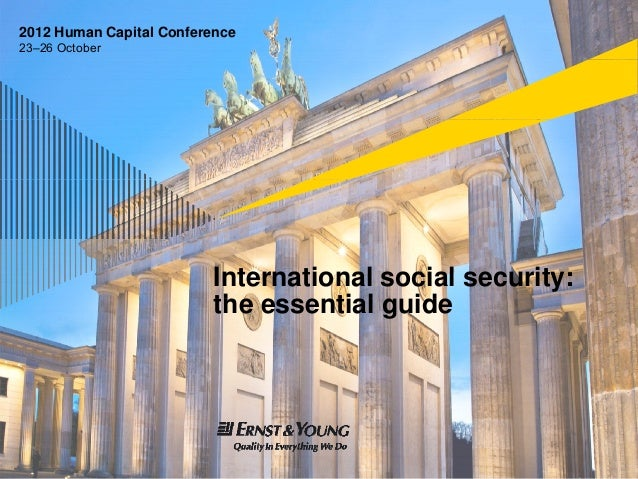 EY Human Capital Conference 2012: International social security - the essential guide