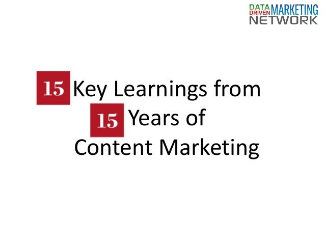 Key Learnings from Years of Content Marketing