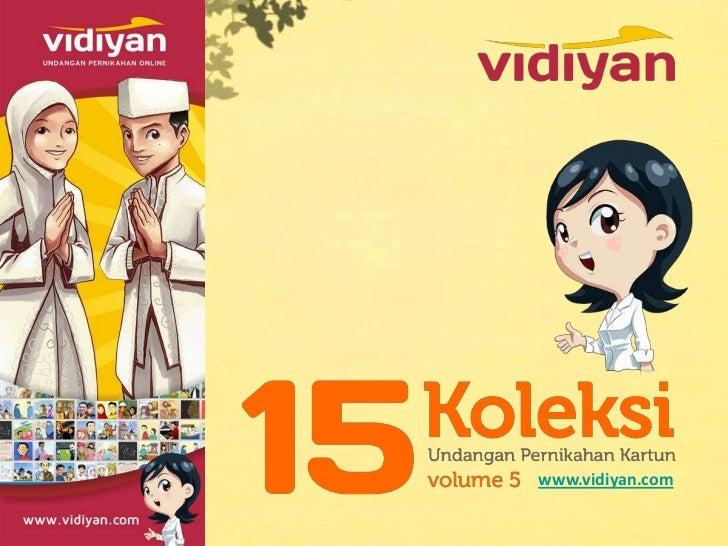 15 koleksi undangan pernikahan kartun (vol 5)