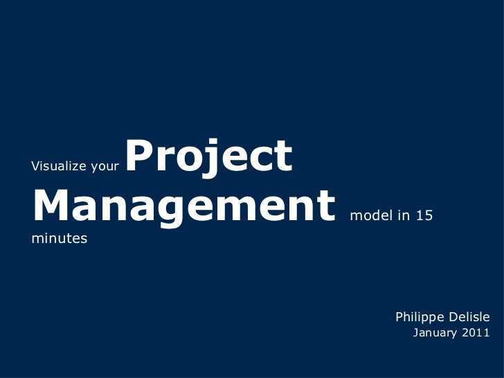 Visualize your  Project Management  model in 15 minutes Philippe Delisle January 2011