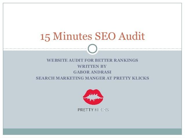 15 minutes seo audit