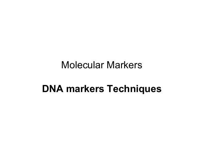 15 molecular markers techniques