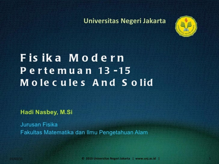 Fisika Modern (15) molecules andsolid_semiconductor