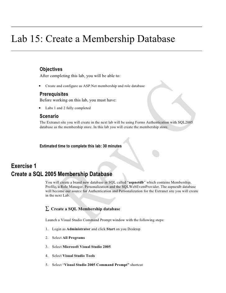 ( 15 ) Office 2007   Create A Membership Database