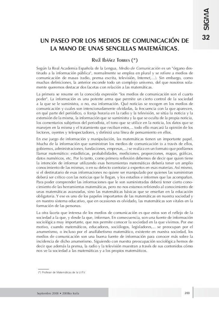 SIGMA  UN PASEO POR LOS MEDIOS DE COMUNICACIÓN DE                                                         32     LA MANO D...