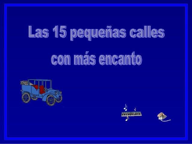 15 peque+¦as calles nb