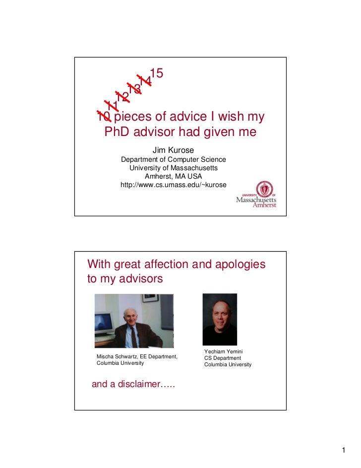 15 pieces of advice i wish my ph d advisor had given me