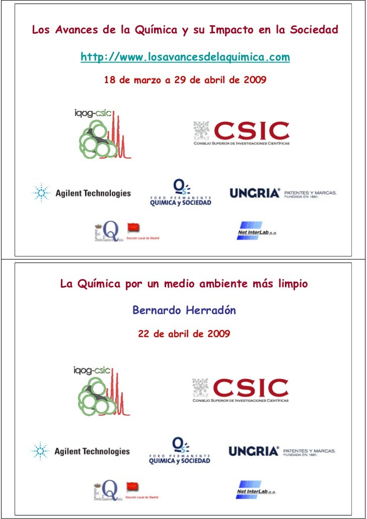 Los Avances de la Química y su Impacto en la Sociedad          http://www.losavancesdelaquimica.com              18 de mar...