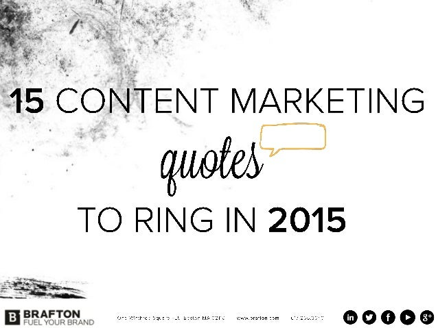 15 Content marketing quotes to ring in 2015