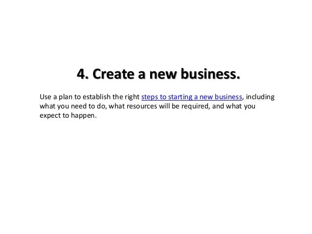 Creating a new business plan