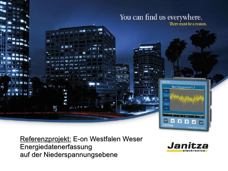 Referenzprojekt:  E-on Westfalen Weser Energiedatenerfassung auf der Niederspannungsebene