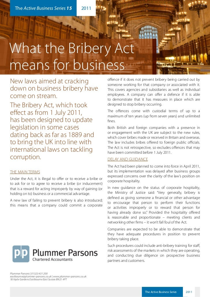 15. Series  What The Bribery Act Means For Business