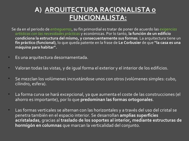 Arte Siglo Xx Arquitectura Racionalismo Y Organicismo