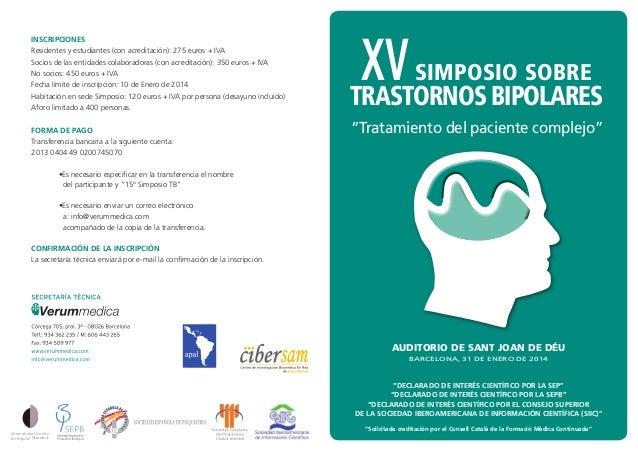 XV Simposio de Trastornos Bipolares